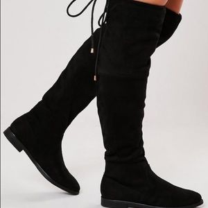 Missguided over the knee faux suede boots